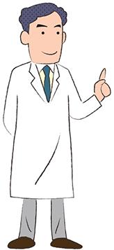 画像:指さす男性医師