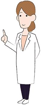 画像:指さす女性医師