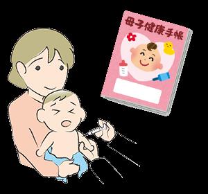 イラスト:注射をする赤ちゃん